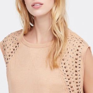 Cute Metal-Decorated Blouse (Blush)